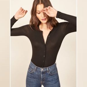 Reformation // Roseline Front Button Top